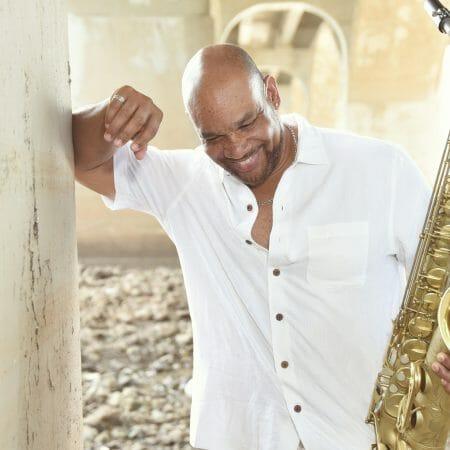 Eldredge jackson with a saxophone