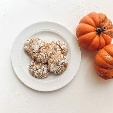 Pumpkin Gooey Butter Cookies