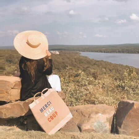 woman at overlook in Carlton Landing