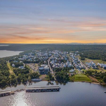 Lake view of Carlton Landing